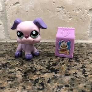 Littlest Pet Shop Lps Purple Boxer Dog EUC